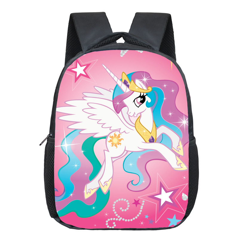Little Pony Toddler Backpack Kawaii Horse School Bags Children Cartoon Kindergarten Bags Chic Kids Bags Mochila