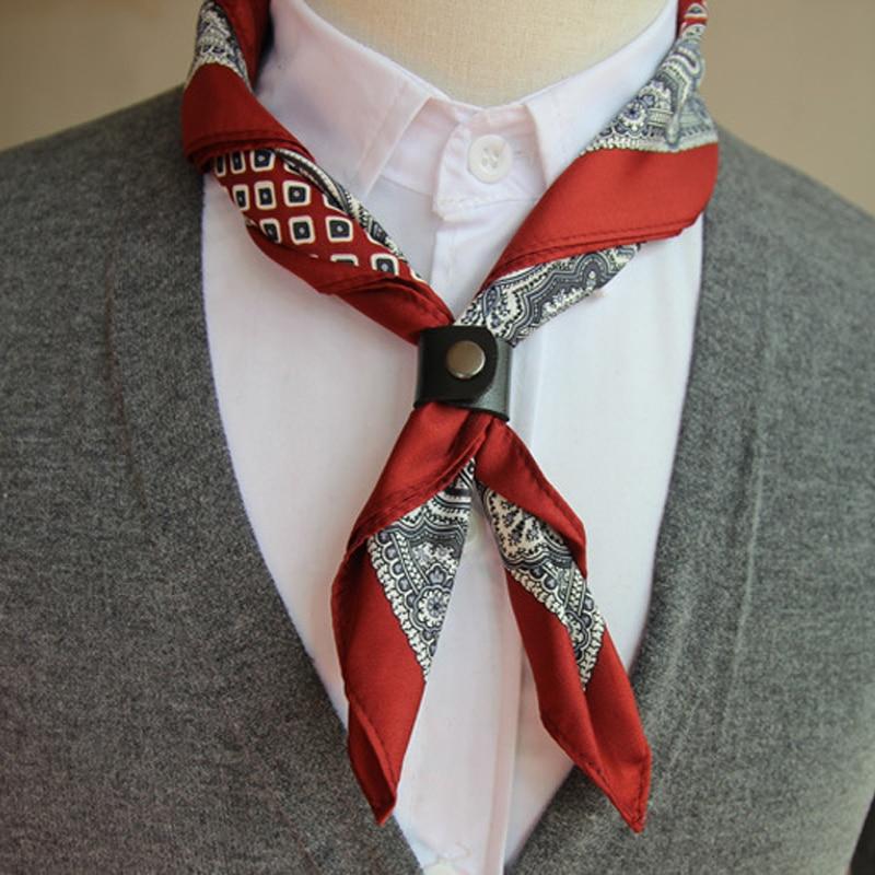 2017 NEW Popular 55 * 55CM Man Square Paisley Flower Cartoon Ascot Tie Men's Classic Ties Self-tied Cravat Necktie Party Gift