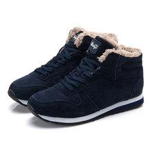 Plus rozmiar mężczyźni buty marki zima Buty Mężczyźni ciepłe zimowe buty Snow kostki buty męskie sneakers Black para buty botas hombre tanie tanio Dorosłych Gumowe Z KUIDFAR Skóra dzielona Shearling Stado 2510 (3 Płaski (≤ 1cm) Sznurowane Szycia Okrągły palec