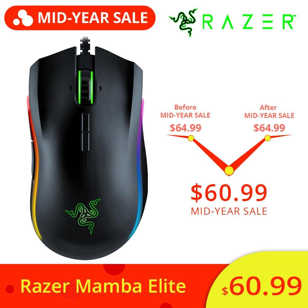 Nouveau Razer Mamba Elite souris de jeu filaire 16000 DPI 5G capteur optique Chroma lumière souris de jeu ergonomique pour PC Gamer ordinateur portable