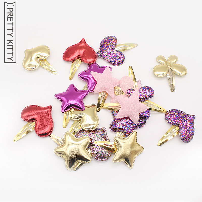 10pc/lot BB Clip Hair Clips Kids Children Hairpin Baby Girls Hair Accessories Sequins Heart Butterfly Barrettes Glitter Stars 1pcs hair clip black claw clip crystal pearl plastics for women baby party festival rhinestone hairpin 2 sizes hair accessories