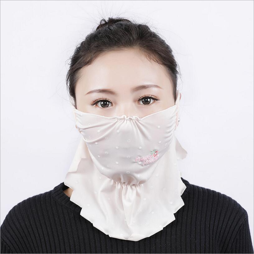 Women girl Summer protection face mask sun protective Shade anti-dust mouth mask
