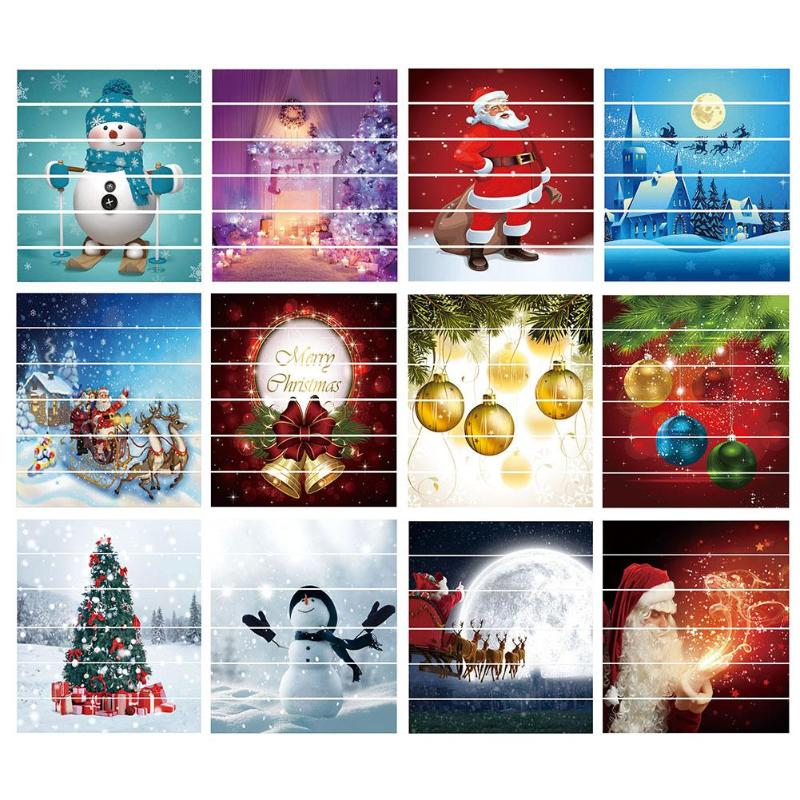 6pcs set Waterproof PVC Stair Stickers Snowman Santa Claus Christmas Floor Stairway Stickers Christmas Decoration For Home in Pendant Drop Ornaments from Home Garden