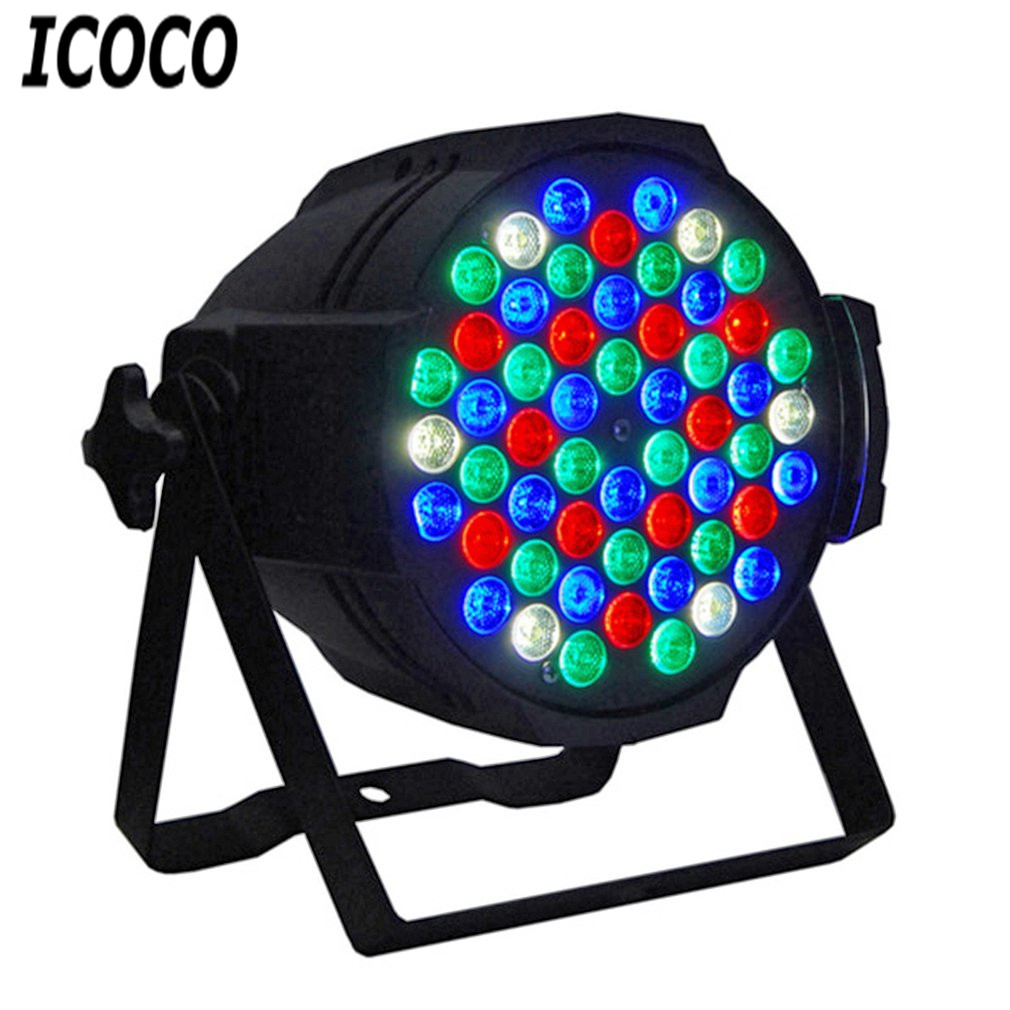 ICOCO 54pcs*1W Cast Aluminum Par Light Disco Stage Club Party KTV Show Indoor LED Light Spotlight Work Light Super Bright Lamp 36w uv led stage light black light par light ultraviolet led spotligh lamp with dmx512 for disco dj club show party decoration