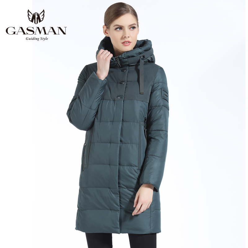 GASMAN 2019 Brand Women Winter Jacket Casual Women Thickening Hooded Down Parka Women's Windproof Coat Bio Down Jacket for Women