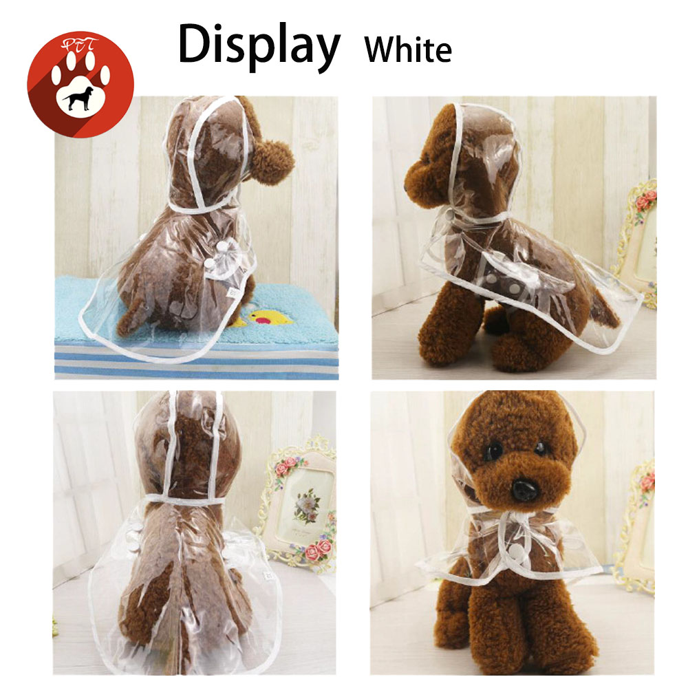 raincoat waterproof clothes transparent pet puppy coat for small medium dog with hood size S XXL in Dog Raincoats from Home Garden