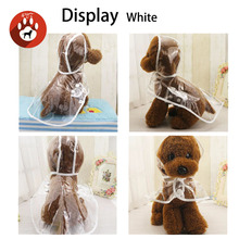 raincoat waterproof clothes transparent pet puppy coat  for small medium dog with hood size S-XXL