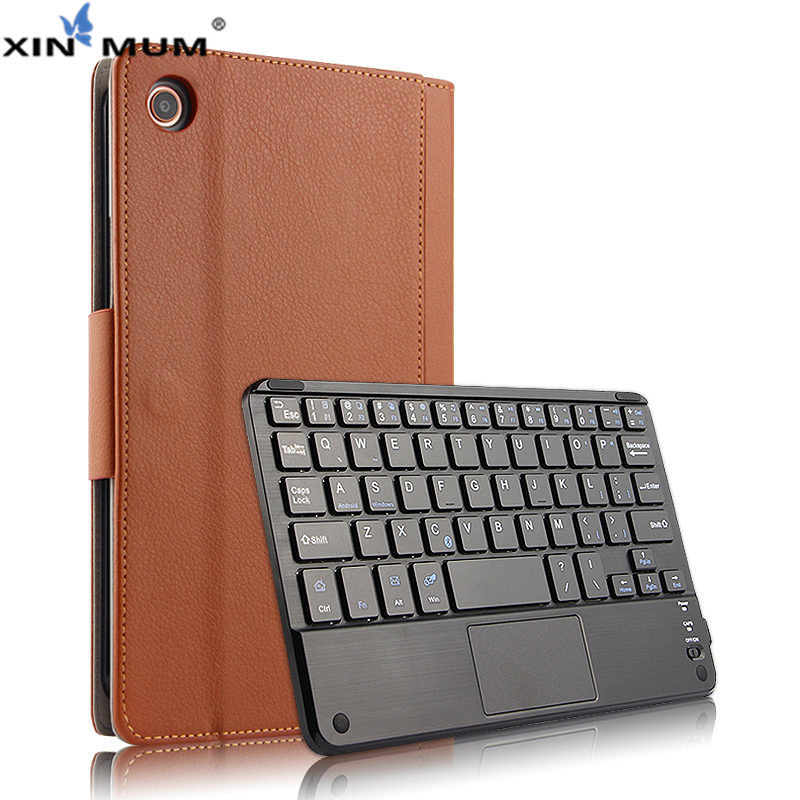 Housse de protection clavier sans fil Bluetooth pour Xiao mi mi Pad 4 mi Pad4 PU cuir mi Pad4 mi pad 4 tablette 8
