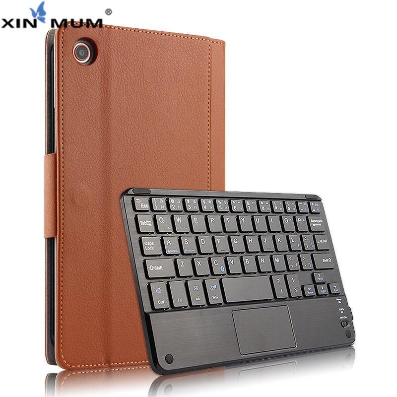 Sans fil Bluetooth Clavier Cas de Couverture De Protection pour Xiao mi mi Pad 4 mi Pad4 PU En Cuir mi Pad4 mi pad 4 Tablet 8 Protecteur Cas