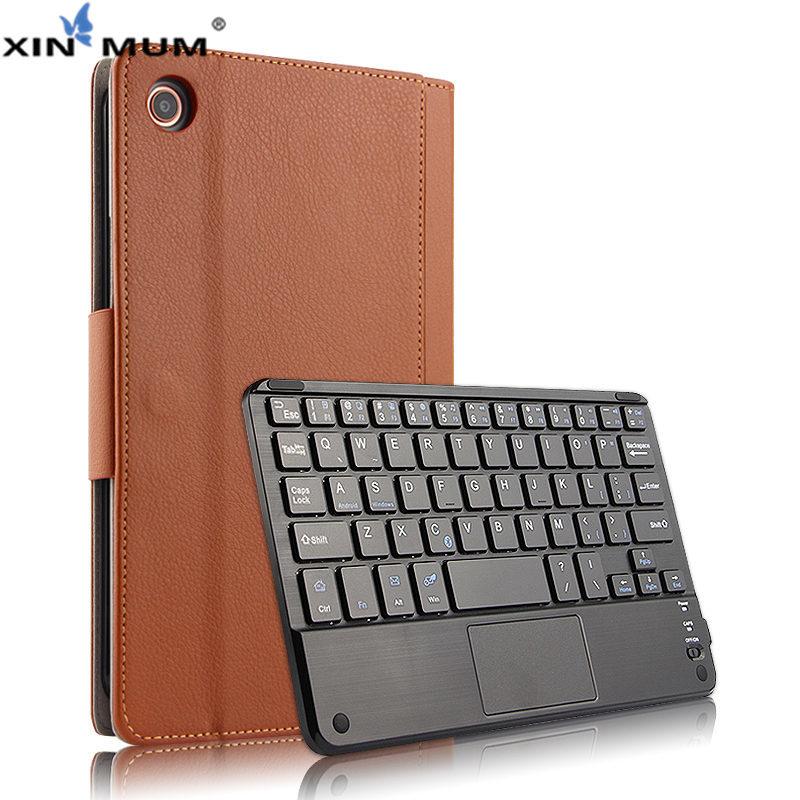 Sans fil Bluetooth Clavier Cas de Couverture De Protection pour Xiao mi mi Pad 4 mi Pad4 PU En Cuir mi Pad4 mi pad 4 Tablet 8