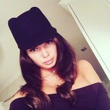 238fd0a80502b 6 colores Europa y América Rusia Venta caliente sombreros nuevo invierno  moda mujer diablo sombrero lindo gatito gato orejas lan.