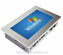 FANLESS 10.1 inch all in one touchscreen mini industrial panel pc support 3G modem