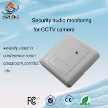 все цены на SIZHENG SIZ-155 wall embedded PVC security sensitivity sound monitor pickup audio microphone for CCTV онлайн