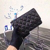 luxury lambskin handbags designer top quality crossbody bag mini purse feminina shoulder flap chain bag caviar messenger bag woc