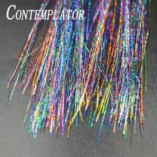 Contemplador 3 sacos novo arco íris flashou tinsel fly fishing material de pesca com glittering flash tinsel para moscas molhadas