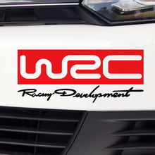 3 Pieces Customizable WRC Rally Stickers Decal Car-Styling For BMW Citroen VW Volkswagen Ford PEUGEOT MITSUBISHI car accessories