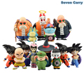 Anime Dragon Ball Z Goku Pilaf Chiaotzu chichi Kame Sennin Kuririn infância Ver. Action Figure Modelo Toy Presente de Natal CSL103