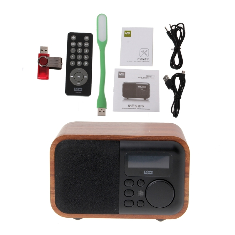 OOTDTY Alarm Clock Bluetooth Speaker FM Radio Support Multifunctional Time Display disun 3320 3w 2 1 ch 4 lcd sensing speaker w fm temperature time alarm clock blue white