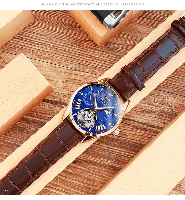 HTB1m6pCd21G3KVjSZFkq6yK4XXaS AILANG Quality Tourbillon Men's Watch Men Moon Phase Automatic Swiss Diesel Watches Mechanical Transparent Steampunk Clock