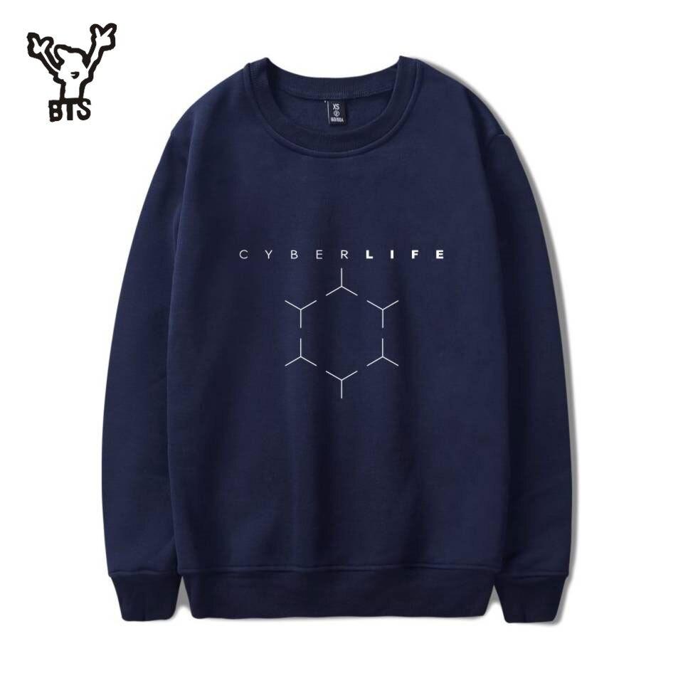 BTS 3D Detroit Become Human Sweatshirts Hot Play Game Detroit Hoodies Men Harajuku Hip Hop Autumn/Winter Capless Sweatshirt 4XL