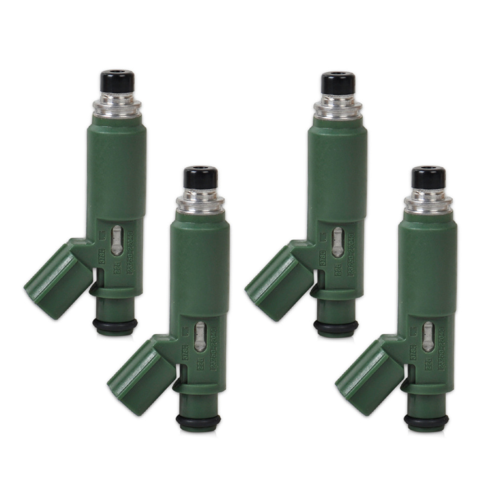 ФОТО 4pcs Set Flow Matched Fuel Injector 23250-22040 842-12248 for Toyota Matrix MR2 Celica Corolla Pontiac Vibe Chevrolet Holden