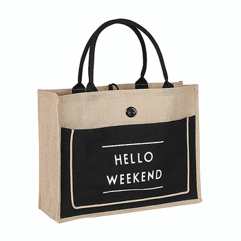 High Quality Women Linen Luxury Tote Large Capacity Female Casual Shoulder Bag Lady Shopping Bag Beach Bag