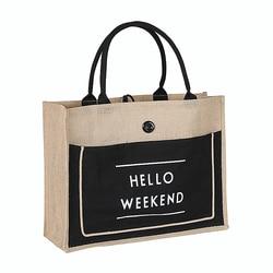 High Quality Women Linen Luxury Tote Large Capacity Female Casual Shoulder Bag Lady Daily Handbag Fresh Beach Shopping Bag