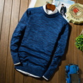 Autumn and winter slim o-neck sweater men's clothing small fresh knitted outerwear all-match yarn shirt male