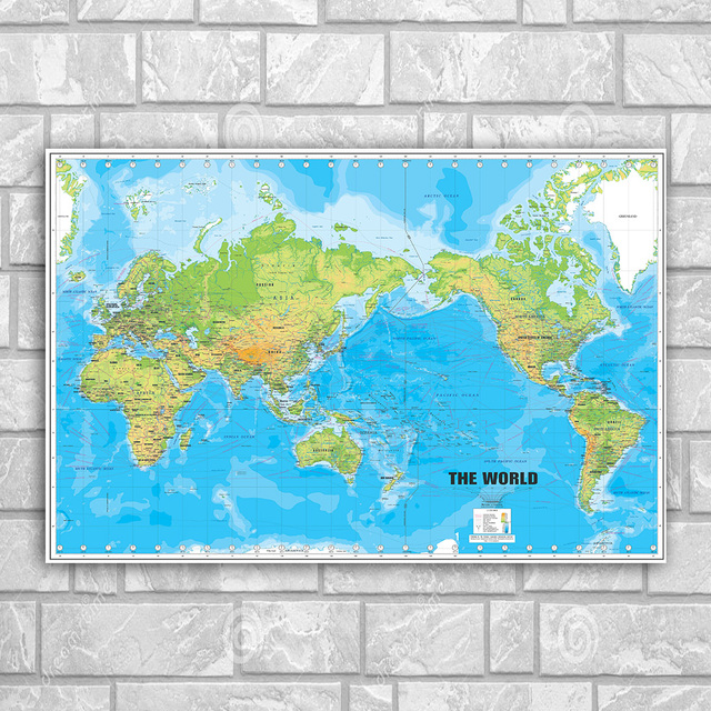 The world map poster wall art silk print poster or canvas painting the world map poster wall art silk print poster or canvas painting for home school teaching gumiabroncs Image collections