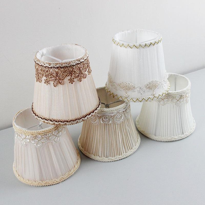 DIA 13.5 cm / 5.31 inch Hoge kwaliteit Meerdere kleuren kroonluchters lampenkappen, Lace muur Lampenkappen voor lamp, Clip op