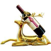 Европейский гостиная олень красный стеллаж для вина украшение кабинета творческий дом модель ресторан винный шкаф украшения