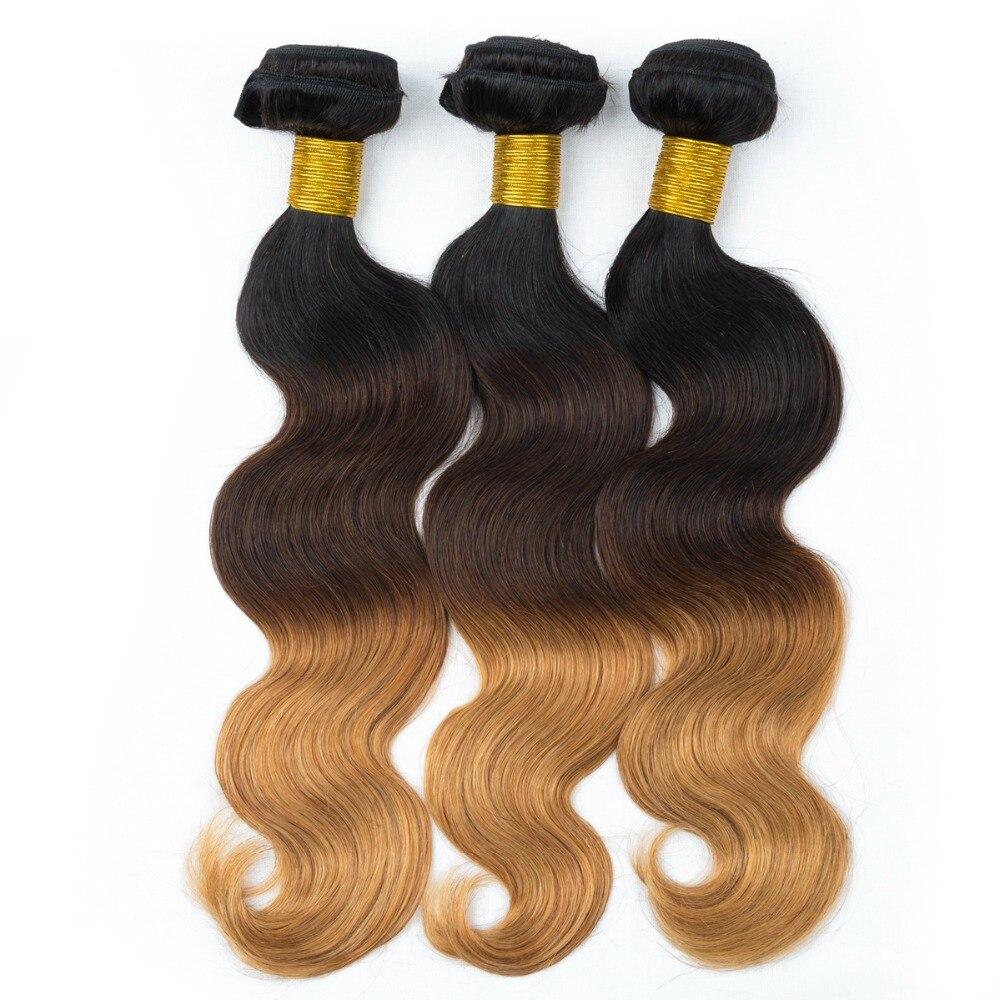300g Brazilian Virgin Hair Ombre Body Wave Human Hair Extensions 3