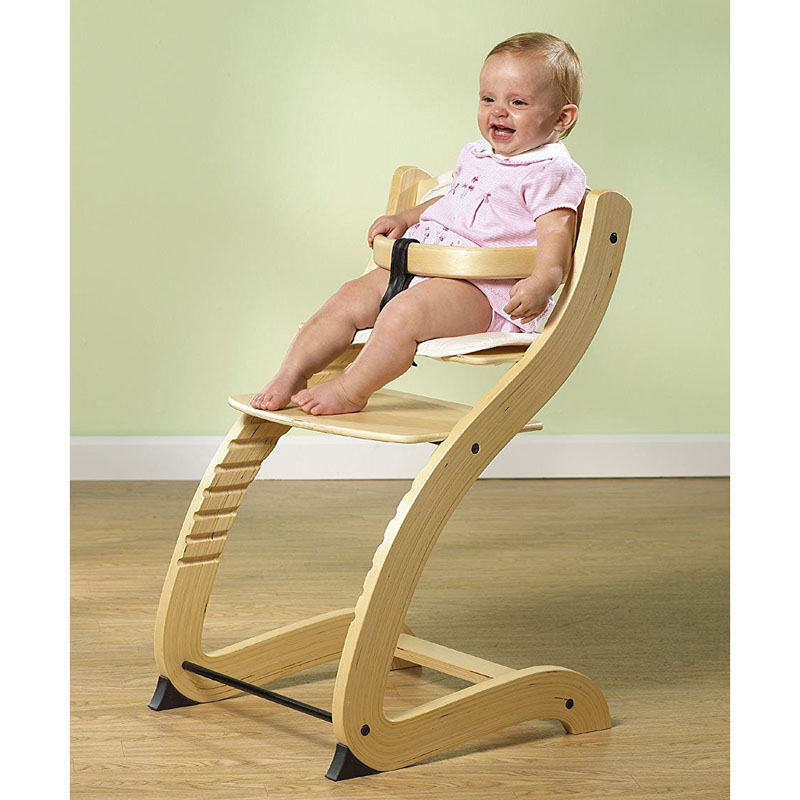 Primo Products Cozy Tot-To-Teen Chair, Adjustable High Chair, Baby Dinning Booster Seat, Natural Birch Wood Baby Feed chair soft portable baby feed chair gift pillow and rope 4wheels baby booster seat light baby feed chair