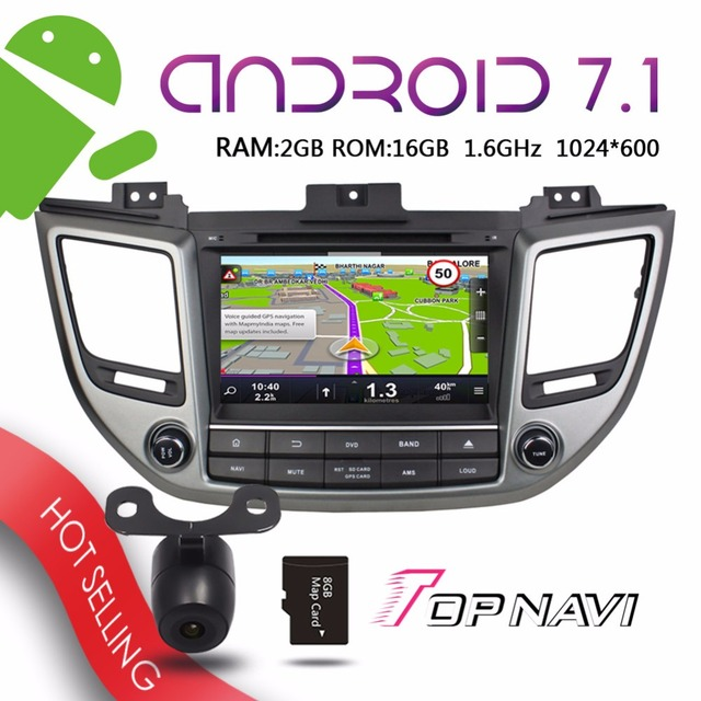 US $418 15 |Topnavi 8'' Android 7 1 Automotive Car DVD Players for Hyundai  Tcson IX35 2015 Auto GPS Navigation Stereo free sdcard-in Vehicle GPS from