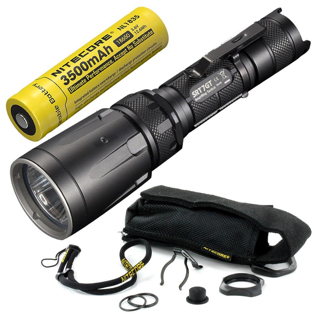 Free Shipping NITECORE RGB UV Light SRT7GT with Rechargeable 18650 Battery CREE XP L HI V3