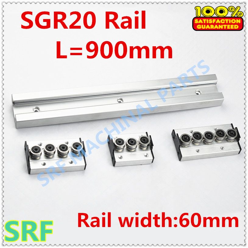 Wood working machinery aluminum profile built in double axis linear guide SGR20 roller slide rail L=900mm+1pcs SGR20 wheel blockWood working machinery aluminum profile built in double axis linear guide SGR20 roller slide rail L=900mm+1pcs SGR20 wheel block