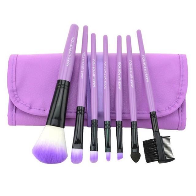 7 pcs/set  Professional Soft Cosmetic Makeup Brushes pinceaux maquiagem Set Blush + 1 x Pouch Bag Case Makeup Brushes
