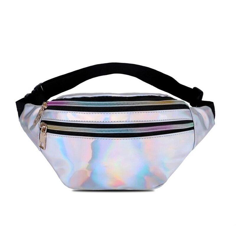 LXFZQ NEW Fanny Pack Belt Bag Women Leg Bag Waist Pack Bolsas Feminina Waist Bag Women Hip Bag Reflective Laser Waist Pack