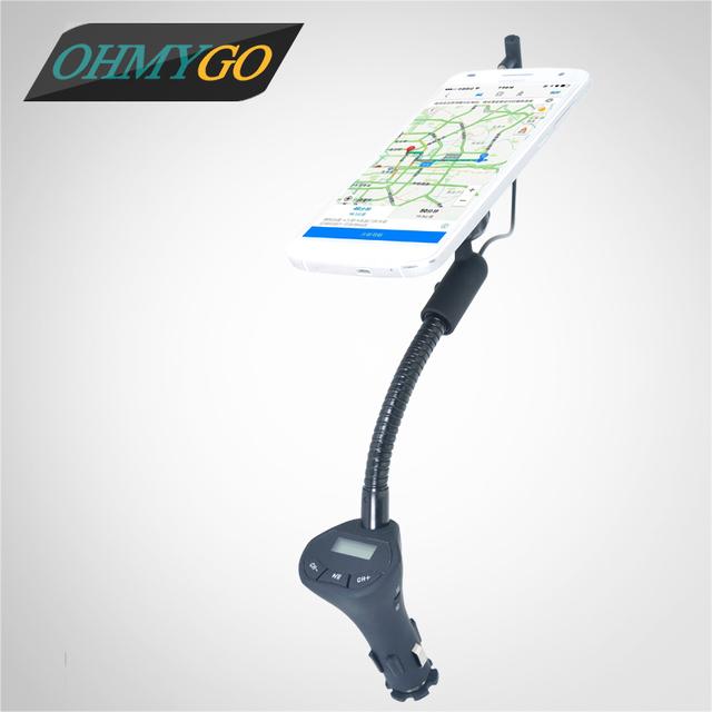"""Coche ajustable magnética sostenedor del teléfono con cargador 3.1a usb manos libres transmisor fm para iphone 6 5 samsung 3.5-6.3 """"Smartphones"""