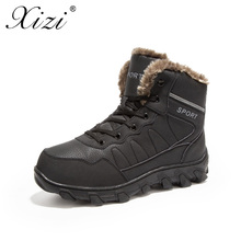 XIZI Men Winter Boots male Army Military Outdoor Desert Combat Tactic Mid-calf Boots Snow Tactical Hiking Boots big size 39-46 недорого