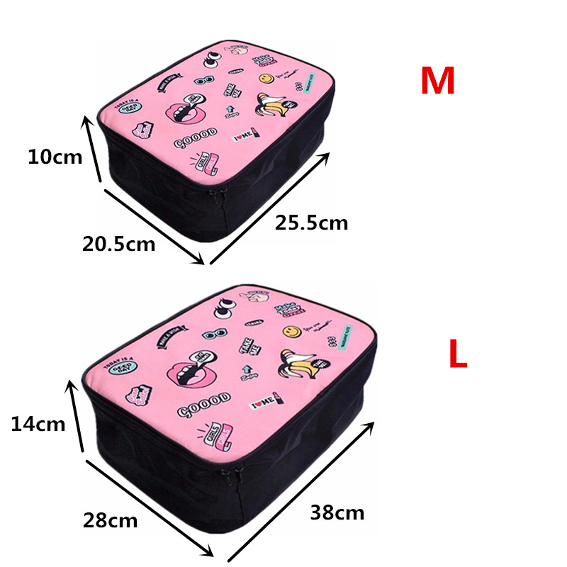 Big Mouth Travel Bags Wash Clothes Underwear Bar Cartoon Images Personalized Practical Portable Storage Luggage Accessories