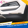 2Pcs/Set Stainless Steel Anti-rub Strip Trim Cover Anti-rub Strips Trim Sticker For Hyundai Tucson 2015 2016 Auto Accessories