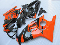 Orange black Body For WI CBR600F3 97 98 CBR600RR 97 98 CBR 600F3 CBR600 F3 CBR 600 F3 1997 1998 Fairing