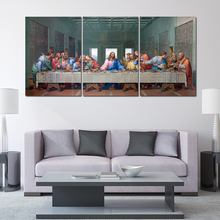 3 Panel Last Supper Painting Modern Home Wall Decor Canvas Art HD Print Picture For Abstract Artwork