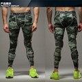 Verde militar 2016 Hombres de Camuflaje Pantalones Joggers Gimnasio Compresión Medias Largas Pantalones Leggings Desgaste Para Hombre