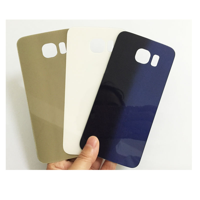 10 Pcs/lot, Original New For Samsung Galaxy S6 G920 G920F Back Battery Cover Rear Glass Housing Case+Adhesive Sticker