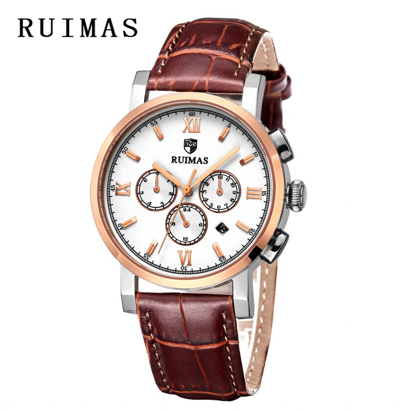 Vestido de lujo RUIMAS Reloj mecánico 2018 Top Brand Rose Gold - Relojes para hombres - foto 4