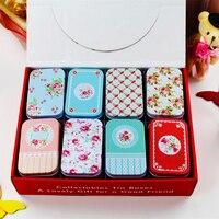 Tin Storage Box Candy Case Rectangle Jewelry Storage Box Mac Coemetic Makeup Organizer Tea Box Metal