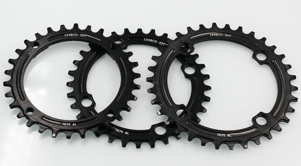 Mountain bike crankset tooth 7075 alloy 104 BCD plus or minus 30 t/t / 32 34 t suit gear blanks (3 PCS)