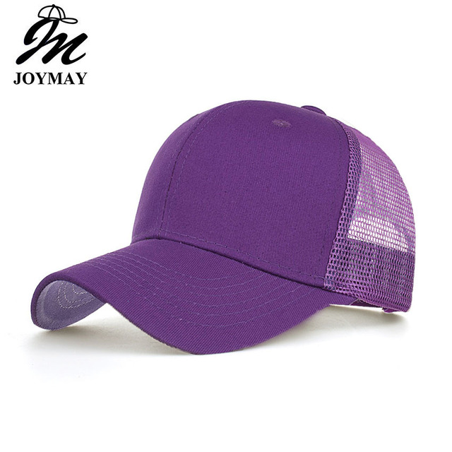 Joymay 2018 Simple Mesh Baseball Cap Women Snapback Hat Summer Messy Bun  Hats Casual Adjustable Sport Caps Drop Shipping B550 db2684df02d2